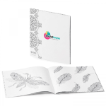 Zen  Coloring Book Anti-Stress Soft Cover Journal