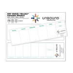 "Dry Erase ""Weekly"" Calendar Decals w/ 2 Calendars"