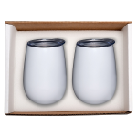 Duo Vacuum Stemless Wine Tumbler Gift Set